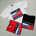 Марка одежды ГОША RUBCHIN футболка маленький флаг печать asap rocky мужчины/женщины скейтборды Любителей пара футболки тройники L048