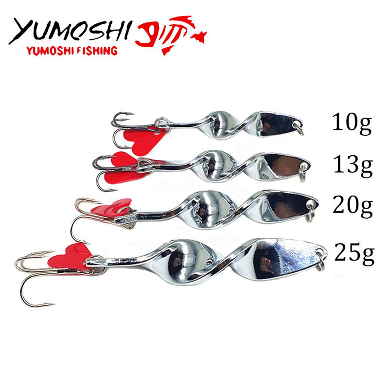 2017 new Special rotate design Fishing Lures Spoon Metal Crank Bait With Tackle Hook Bass Fishing Lure Hard Spinner Baits Рыбная ловля