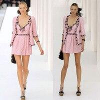 women 2 piece set,elegant jacket+tweed dress suit,crop top and slim dress set,ladies office set,custom xs 5xl size