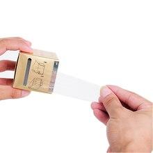 1 rulo 42MM * 200M dövme plastik Wrap kapak koruyucu Film yarı kalıcı makyaj dövme kaş kalemi dövme koruma aksesuarı