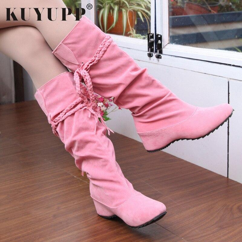 Yellow 5 Sexy Zapatos Ocultar pink 6 Hasta La De Botas Talón Tamaño Kvt53 Más Rodilla Nieve light brown Señoras Mujer Mujeres black Beige 10 Rosa Invierno Cm xvpqwFxAU