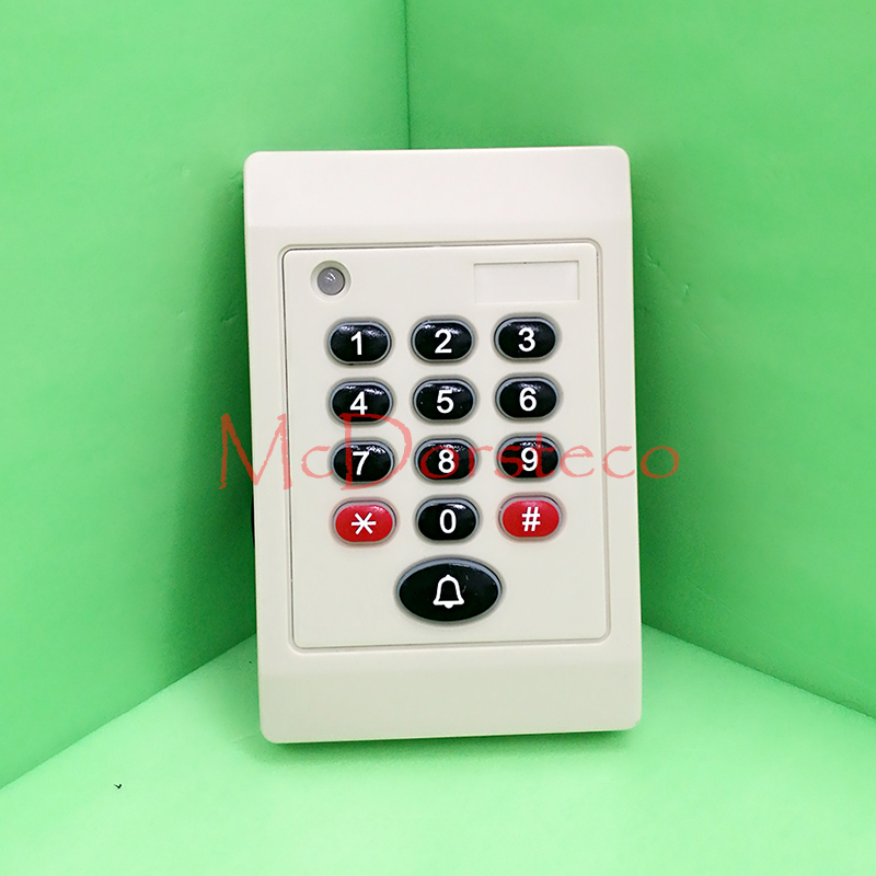 Hot sale Rfid Card Keypad + Password Slave Readerwaterproof IP65 125KHZ Weigand ID EM proximity card reader Wiegand 26bit hot selling em id card reader usb 125khz rfid card reader