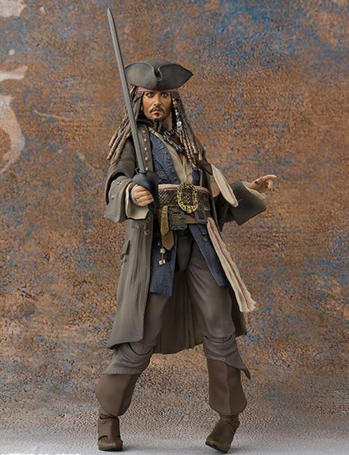 15cm Pirates of the Caribbean Jack Sparrow BJD Figure Model Toys