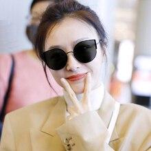 LongKeeper New Cute Cat Eye Sun Glasses Women Luxury Ocean Lens  Sexy Retro Female Eyewear Oculos de sol