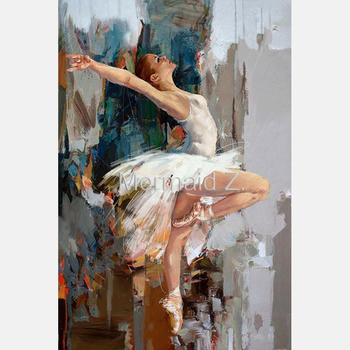 100%Handmade Flamenco Spanish Woman Heat Dancing Dancer Oil Painting On Canvas Flamenco Dancing Paintings Oil Living Room Decor