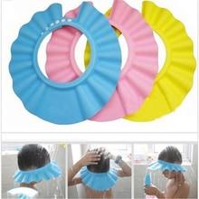 Baby Safe Shower Cap Kids Bath Hat Adjustable Protect Eyes Hair Wash Shield for Children Waterproof