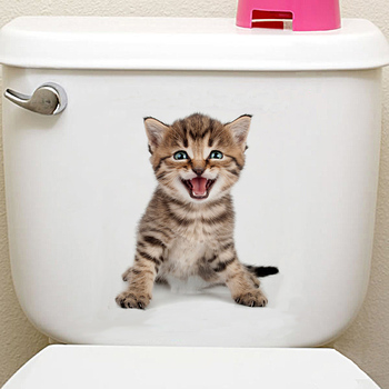 Cats 3D Wall Sticker Toilet Stickers Hole View Vivid Dogs Bathroom Home Decoration Animal Vinyl Decals Art Sticker Wall Poster 20