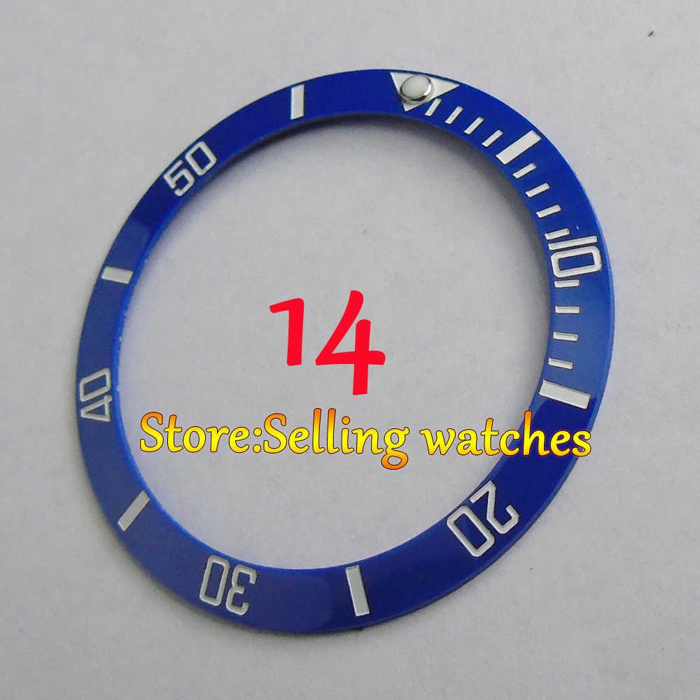 1 pic 38 MILLIMETRI In Ceramica Rosso Nero Blu Verde inserto lunetta fit automatico 40 millimetri parnis watch (Si Prega di notare 12 non è in magazzino)