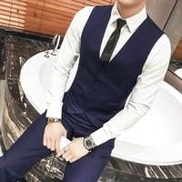 2018 New Arrival Men's Classic Formal Business Slim Fit Wedding Dress Vest Suit Sleeveless Jackets Tuxedo Waistcoat XXXL