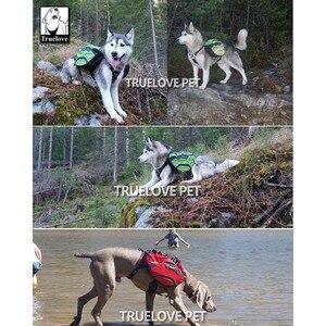 Image 5 - Truelove arnés de mochila para perro, dos usos, impermeable, entrenamiento de acampada al aire libre, senderismo, mochila para mascota de fondo multidía para perros