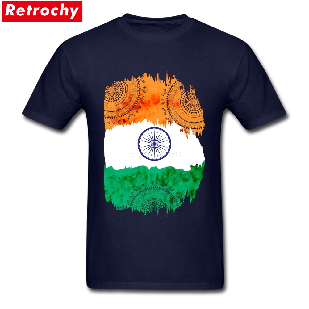 Tees Shirt Bespoke India Flag Mens New T Shirt Design Short Sleeve