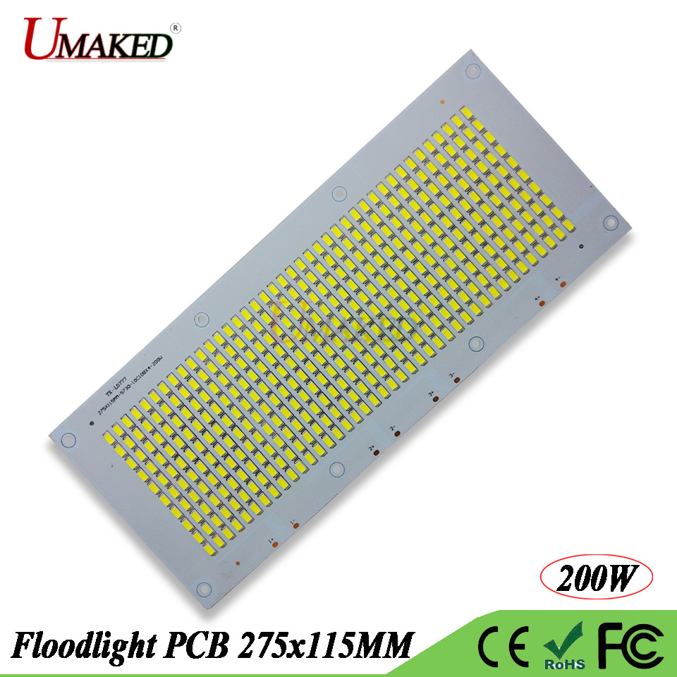 10pc Led Pcb Floodlight Plate 200w 275115mm 20000 22000lm Aluminum Printed Circuit Board Making For Ceiling Lighting Full Watt Smd 5730 Lamp 20000lm Dc20 39v 1500ma