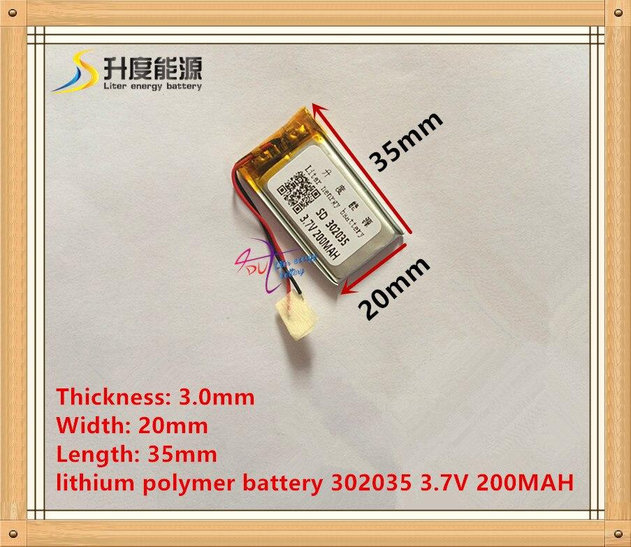 3.7 В литий-полимерная батарея 302035 032035 200 мАч MP3 MP4 маленькие игрушки с защитой борту