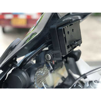 2018 New For BMW R1200GS LC 2013-On Mobile Phone Navigation Bracket For GARMIN USB Phone Charging R1200 GS ADVENTURE ADV 12MM