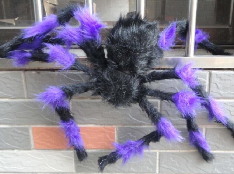 75 cm ila 200 cm süper büyük peluş örümcek tel ve peluş siyah - Tatiller ve Partiler Için - Fotoğraf 4