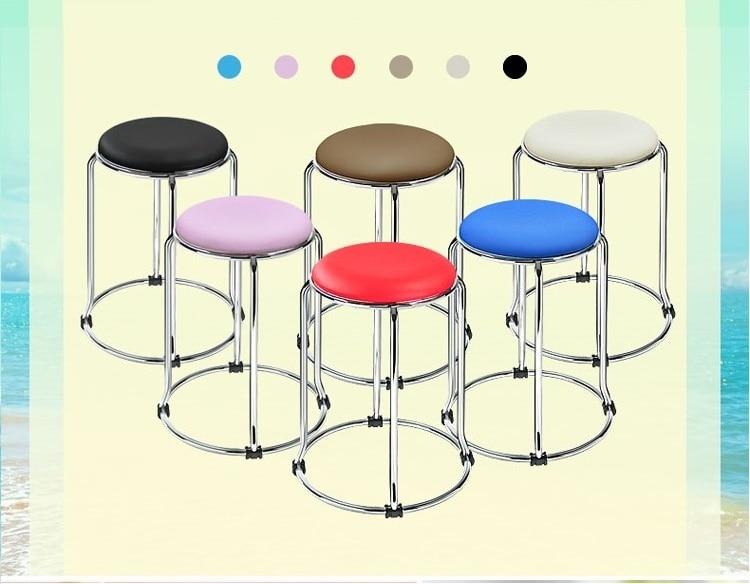 home bedroom stool children homework stainless steel stool blue white pink purple