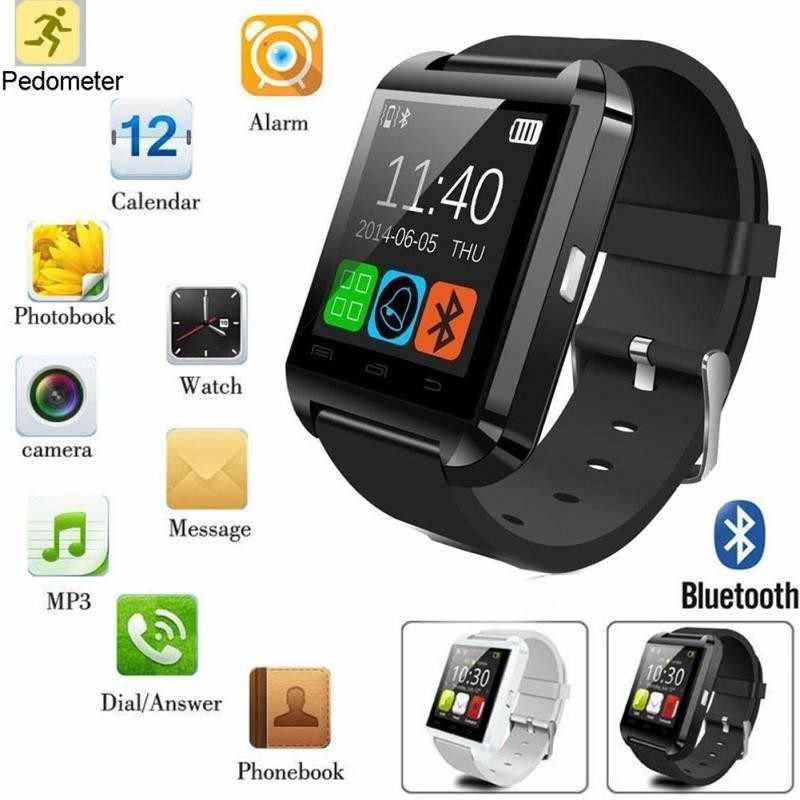 Venta caliente U8 reloj inteligente Bluetooth Smartwatch U80 para el IPhone 6/5S Samsung S6/Nota 4 HTC Android teléfonos Android