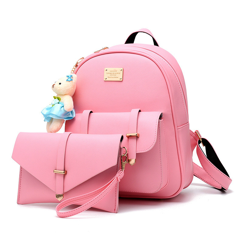 2017 New Arrivals Ladies Bags Concise Sweet Fashion Leisure Backpacks Candy Color Pink Wine Red Blue