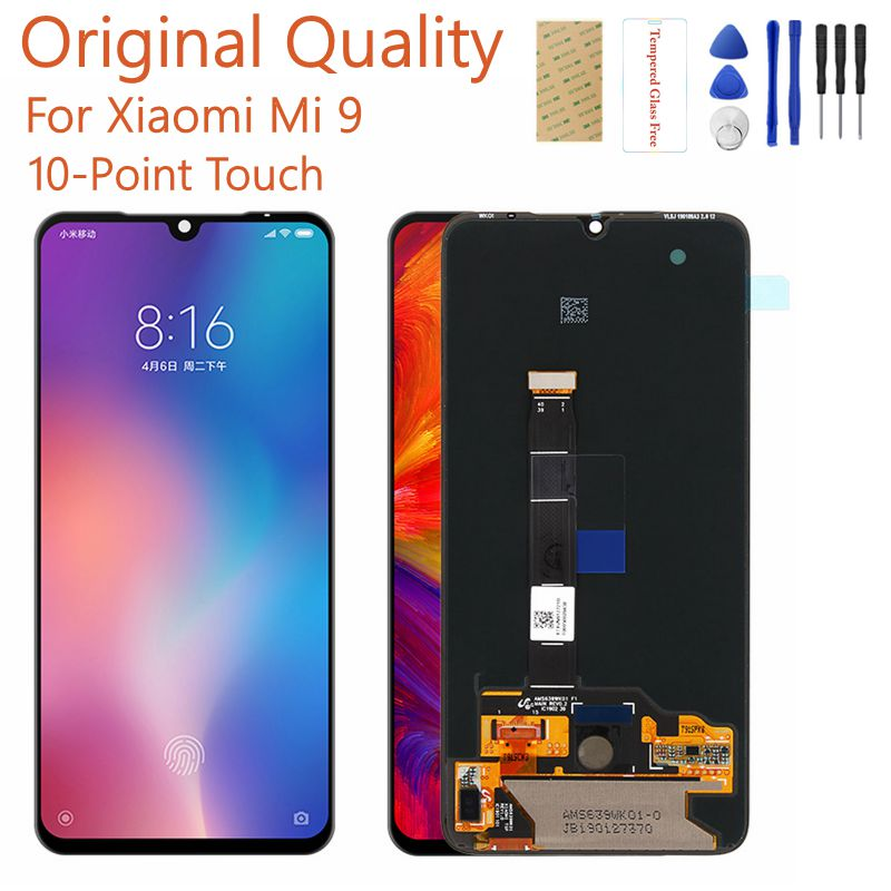 Original For Xiaomi Mi 9 LCD Display+Touch Screen Panel For Xiaomi Mi 9 Mi9 LCD Display Digitizer Replacement Repair Spare Parts-in Mobile Phone LCD Screens from Cellphones & Telecommunications    1