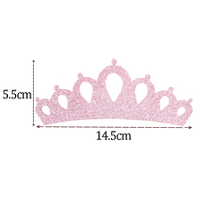 12pcs/lot Glitter Crown Applique Baby Girls DIY Hair Accessory Supply Instock Handmade Onerment MOMLOVEDIY