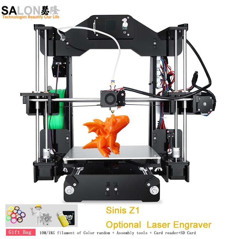 Sinis Z1 3D Printer Machine Large Size 220*220*240MM High Precision DIY 3d Printer Kit Optional 1000mw Laser Engraving zonestar newest full metal aluminum frame big size 300mm x 300mm auto level laser engraving run out decect 3d printer diy kit