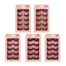 5 Pairs mink eyelashes natural long 3D 1cm-1.5cm lashes hand made false eyelash