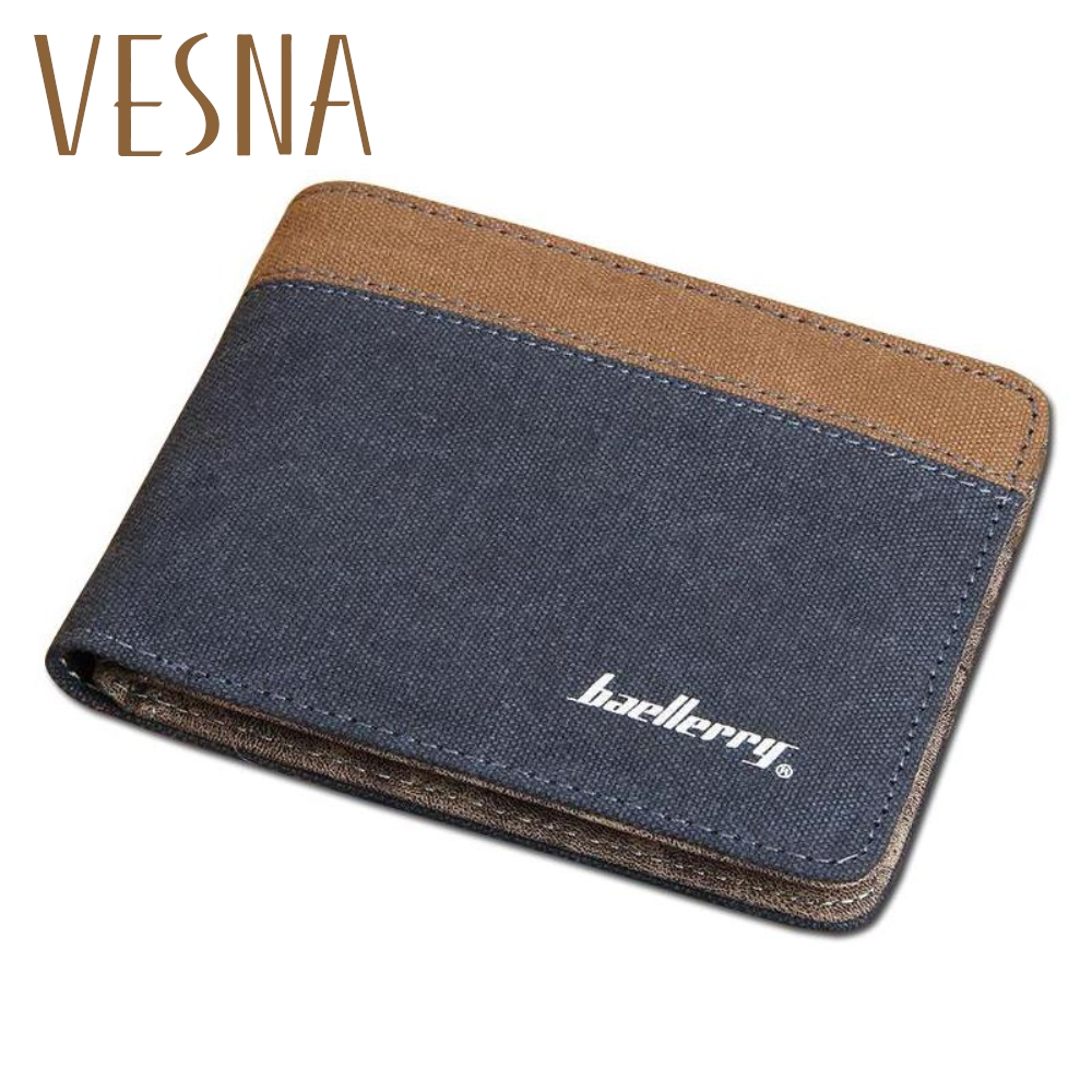 High Quality Men Canvas Wallet Casual Style Fabric Purse Famous Brand Baellerry Free Shipping
