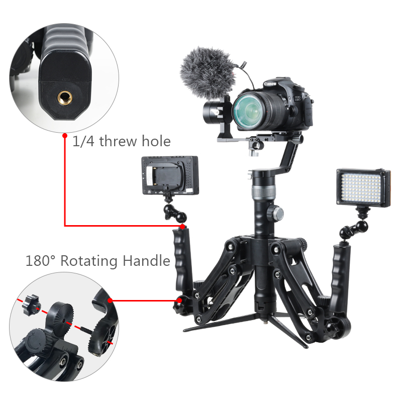 Steadymaker-BOB-Buster-Gimbal-Arm-with-Spring-Dual-Handle-Steadicam-Rig