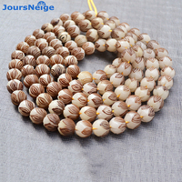 Wholesale Natural Bodhi Bracelet Carved Lotus 114 Bodhi Buddha Bead Hand String Pendant Men Women DIY Tibetan Style Necklace