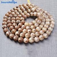 Wholesale Natural Bodhi Bracelet Carved Lotus 114 Bodhi Buddha Bead Hand String Pendant Men Women DIY Tibetan Style Necklace