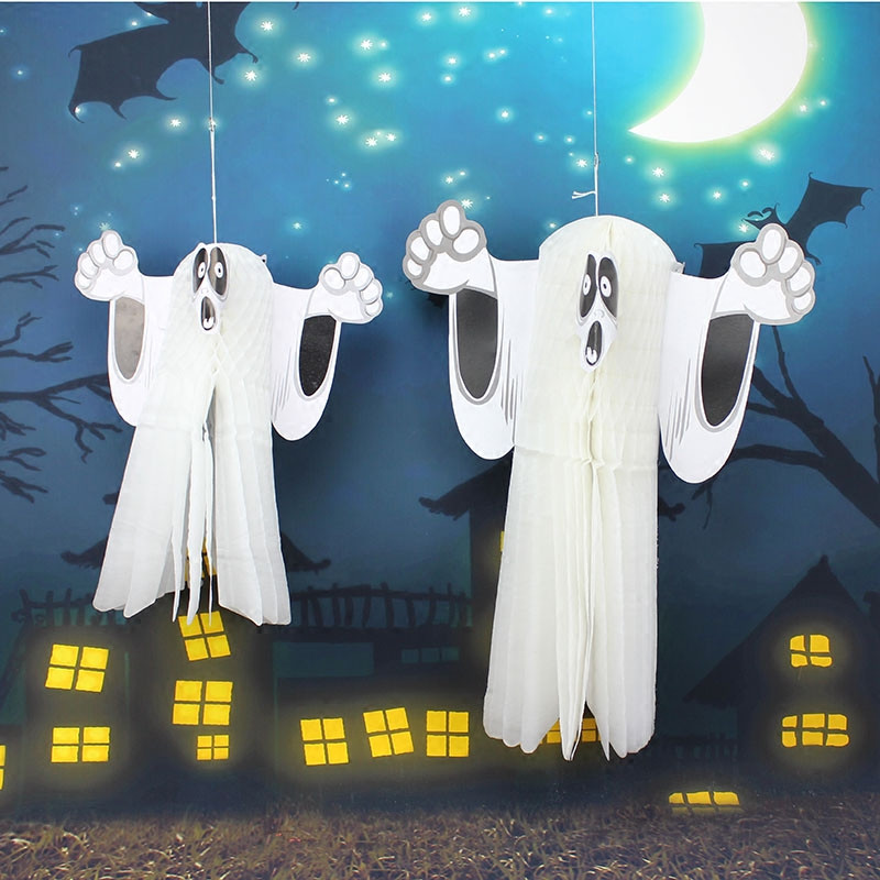 the size of three dimensional ghost kids halloween ghost favors charm pendant halloween party decorations supplies props mall - Halloween Party Decorations Cheap