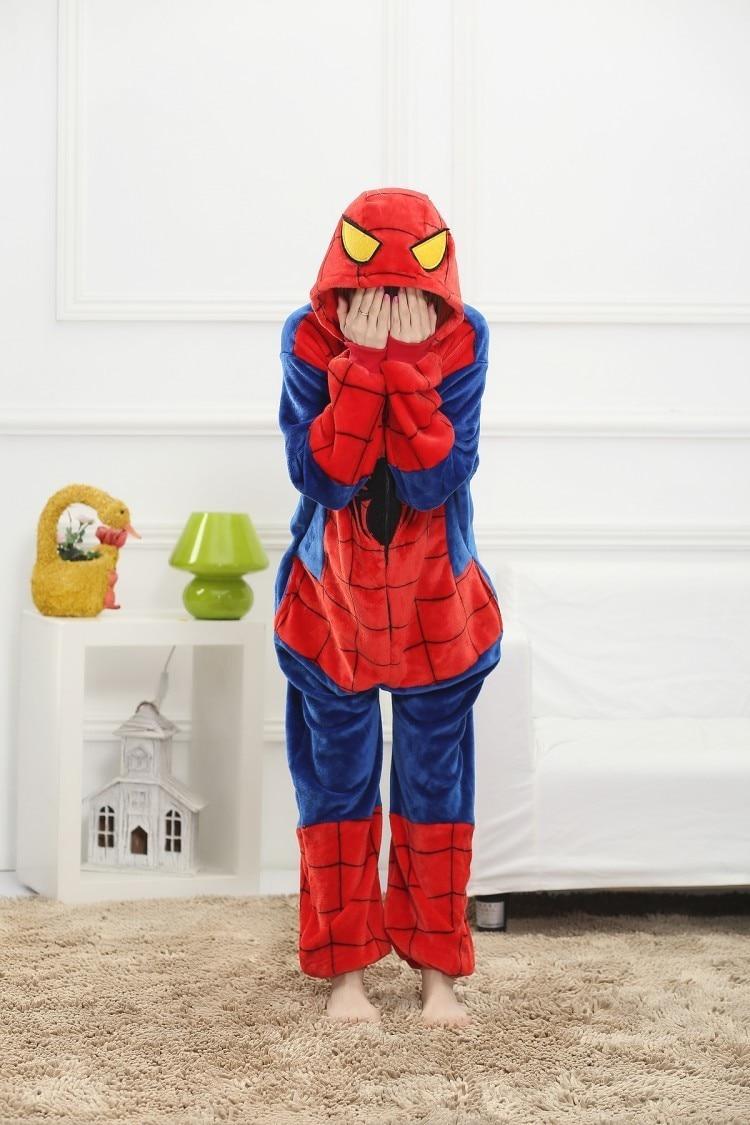 Gyvūnų pižama voras-vyras suaugusių moterų pižama flanelė animacija animacija Helovinas kostiumai gyvūnų vyrų Unisex