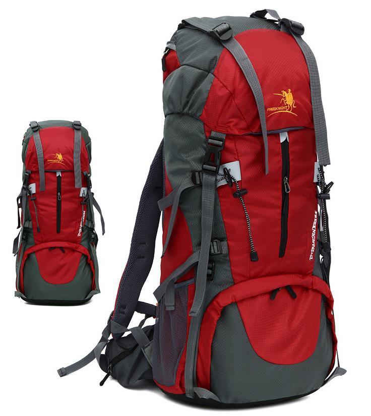 Sac extérieur en Nylon sac à dos étanche cadre externe escalade Camping randonnée sac à dos support en métal sac d'alpinisme 65 + 5L