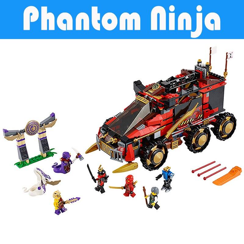 ФОТО 755Pcs Bela 10325 Ninja DB X Masters Ofpinjitzu Phantom Ninja Building Bricks Blocks Compatible Legoe Figures Toys