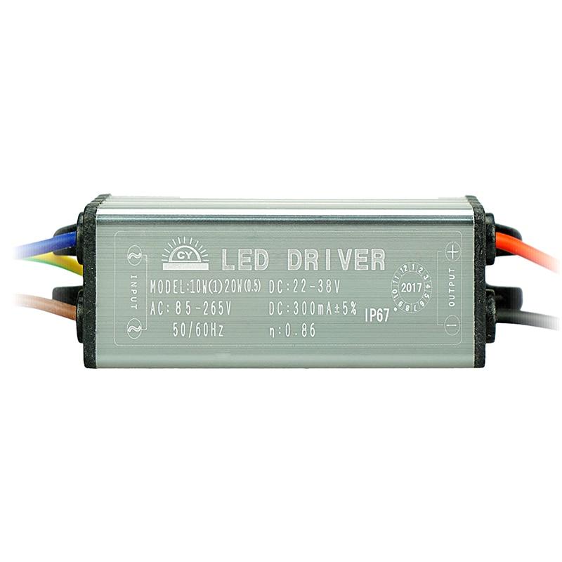 [MingBen] 2 pcs LED Driver 10W 20W 30W 50W 70W Convert AC85-265V To DC20-38V MB Lighting For Flood Light Floodlight No Flicker
