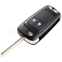 цена на New 2 Button Remote Folding Flip Case Fob Cover Car Blank Key Shell For Chevrolet Camaro Cruze Equinox Malibu Sonic Spark Volt
