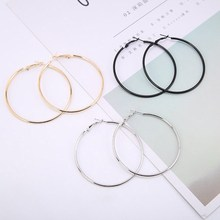 1 пара модные женские модные большие серьги круглые большие гладкие круглые серьги брендовые круглые серьги ювелирные изделия
