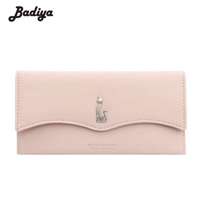 Womens Wallets Solid Cute Purses Long Multi-Functional Fold Hasp Walets Money Bag Purses ...