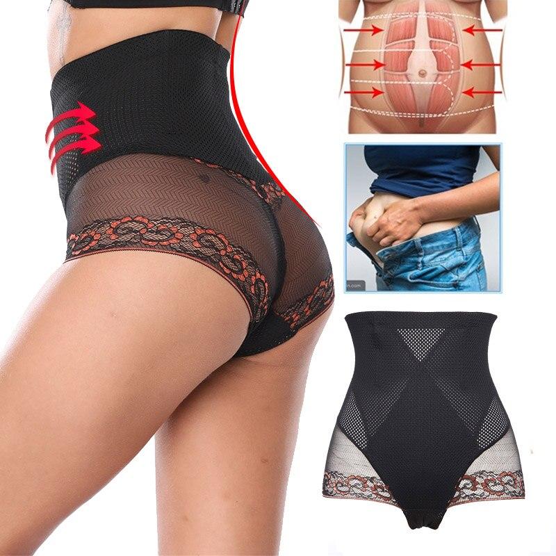 Women Shapers High Waist Body Shaper Slimming Underwear Control Panties Pant Briefs Magic Body Shapewear Lady Corset Tummy Shape in Control Panties from Underwear Sleepwears