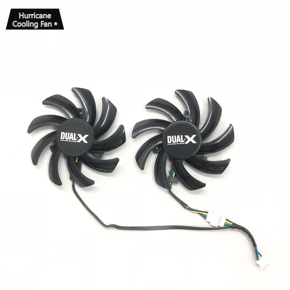 75mm Sapphire AMD R9 280X 280 270X Dual-X Fan Replacement FD7010H12S 12V 0.35 HI