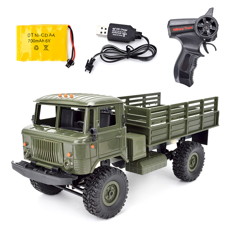 WPL B-24 GAZ-66 DIY 1:16 RC Climbing Military Truck Mini 2.4G 4WD Off-Road RC Cars Off-Road Racing Car RC Vehicles RTR Gift Toy