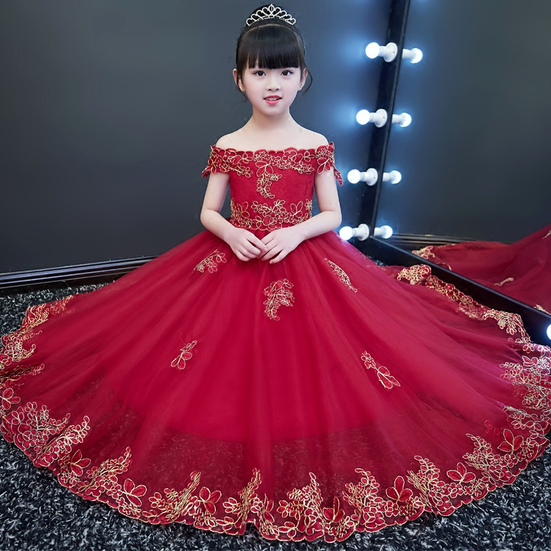 342a0fc0509c Emboridery Kids Party Prom Dress First Communion Dresses ...