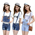New Arrival Summer Skinny Casual Adjustable Jumpsuit Womens Denim Romper Overalls Short Girls Jean Shorts Pants Playsuit DC-5400