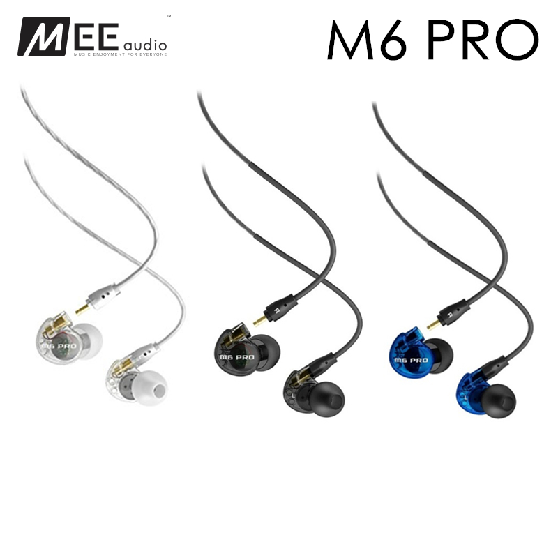 Ship in 24 Hours MEE Audio M6 PRO Noise Canceling 3.5mm HiFi In-Ear Monitors Earphones with Detachable Cables Wired Earphones new wired earphone mee audio m6 pro universal fit noise isolating earphones musician s in ear monitors headset good than pb3 pb