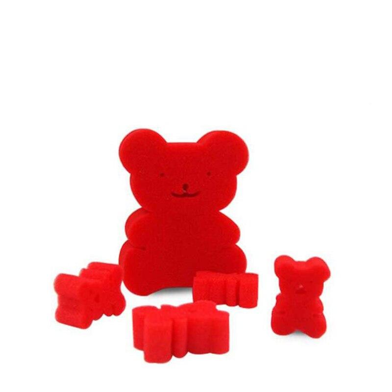 5 pièces/ensemble éponge magique ours gros plan tours de magie accessoire un grand ours et quatre petits ours drôle facile apparaissent jouets magiques
