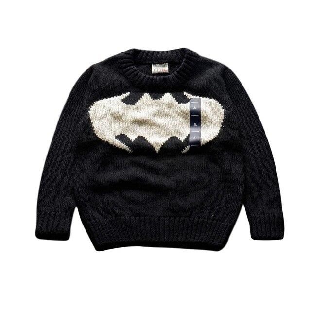 Дети свитера рубашки мальчиков девочек 100% хлопок теплый свитер 2015 новый осень зима пуловер свитер дети одежда 2-7Y