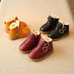 Зимние детские ботинки martin детские вельветовые Термальность зимние сапоги для девочек противоскользящие полусапожки