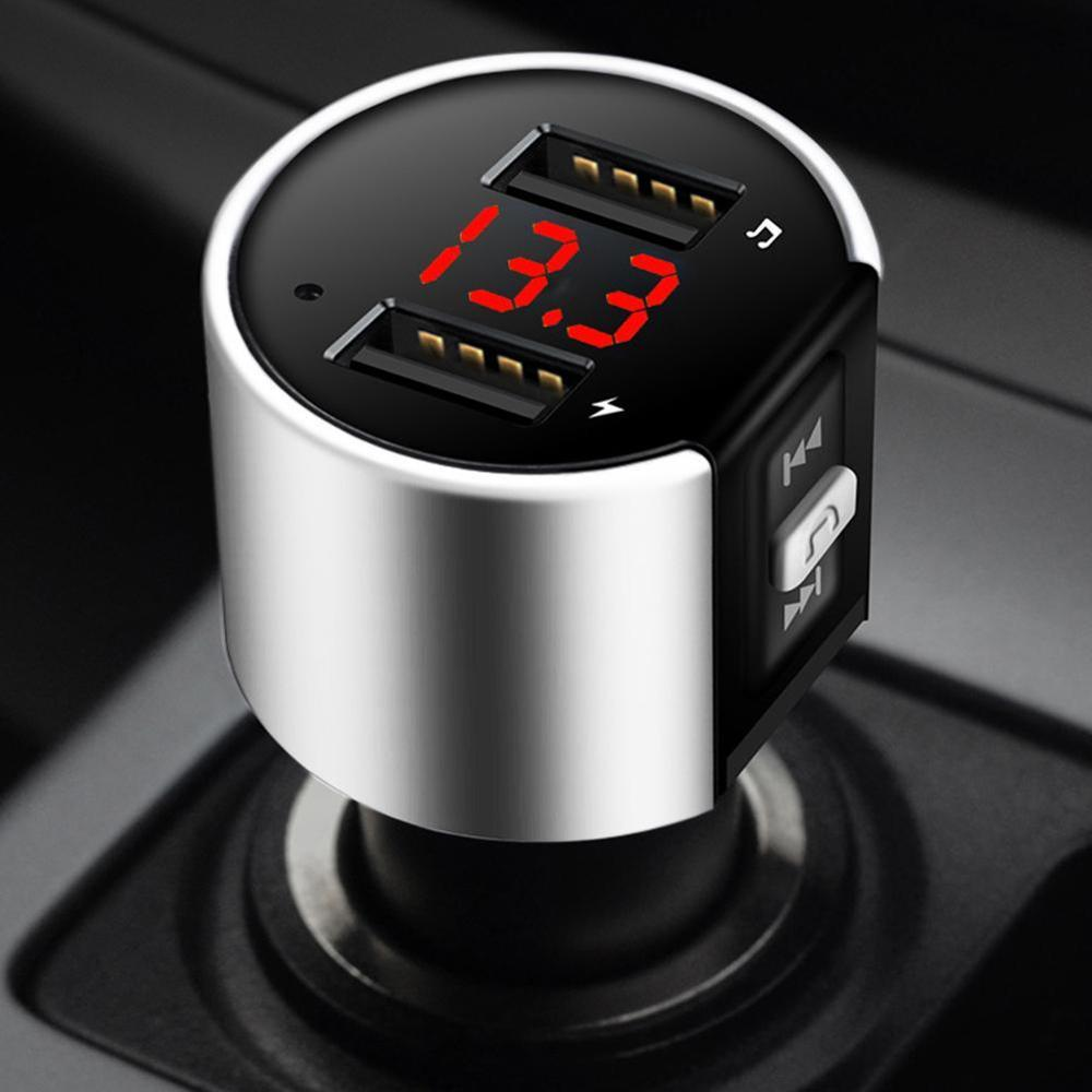 Car Kit Handsfree Wireless Bluetooth FM Transmitter LCD MP3 Player USB Charger 2.1A