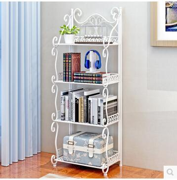 Creative forged iron frame is a natural living room bedroom balcony storage rack in Storage Holders Racks from Home Garden