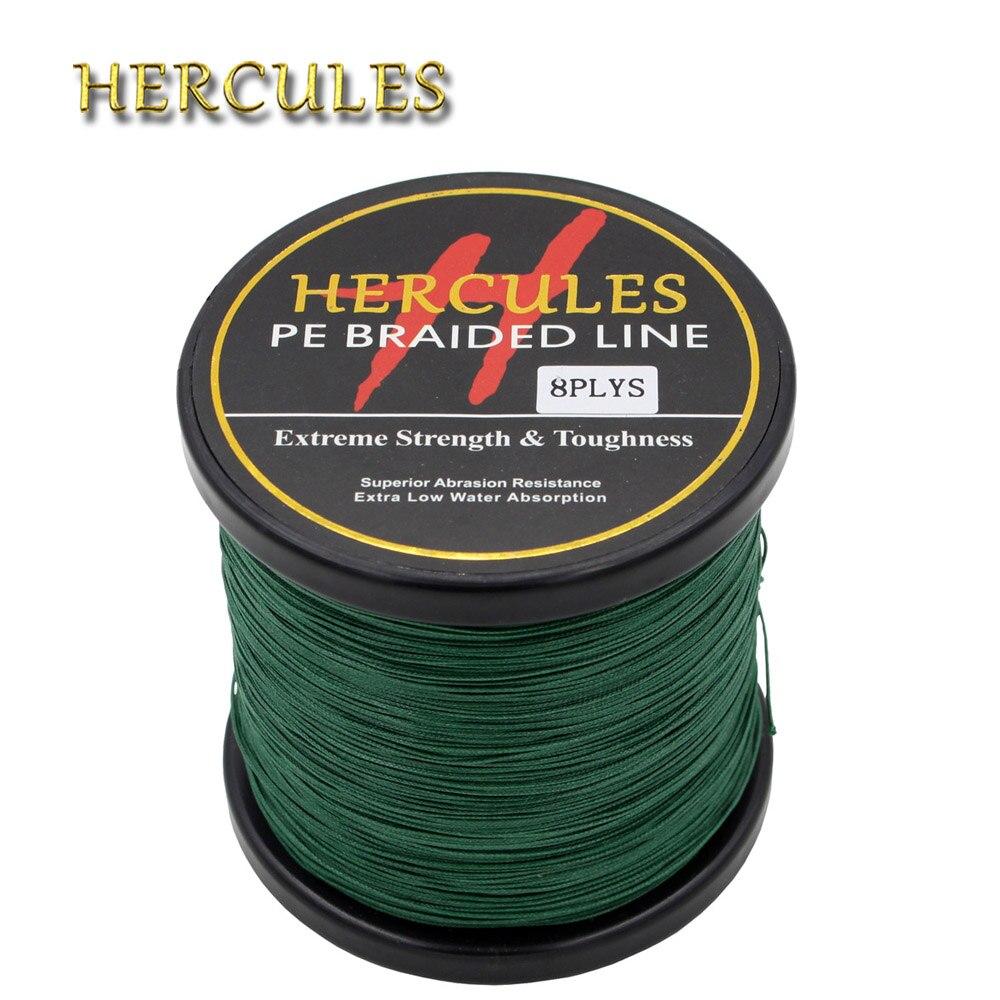 Hercules PE Braided Line For Fishing 150LB Pesca Green 100M 300M 500M 1000M 1500M 2000M Sea Saltwater 8Strands Carp Fishing Cord